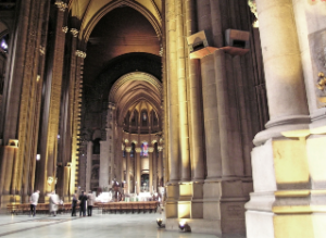 Inside the Cathederal of St. John the Divine, New York City.