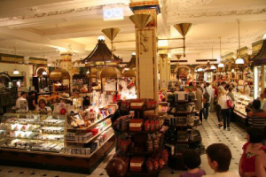 Inside Chelsea Market in New York City.
