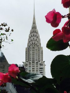 A picture of the Chrysler Building in NYC