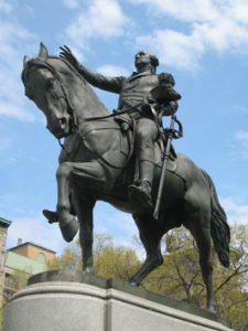Statue of George Washington.