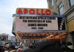 The Apollo Theater in Harlem, New York.