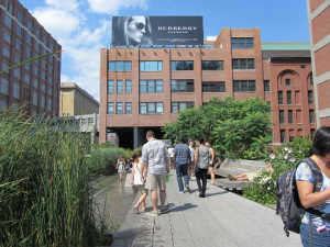 Building near the High Line in New York City.