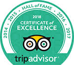 TripAdvisor 2018 Hall of Fame Award logo.