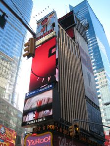 Billboards at Times Square.