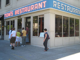 Tom's Restaurant portrayed in Seinfeld.