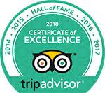 TripAdvisor 2018 Hall of Fame Award logo.